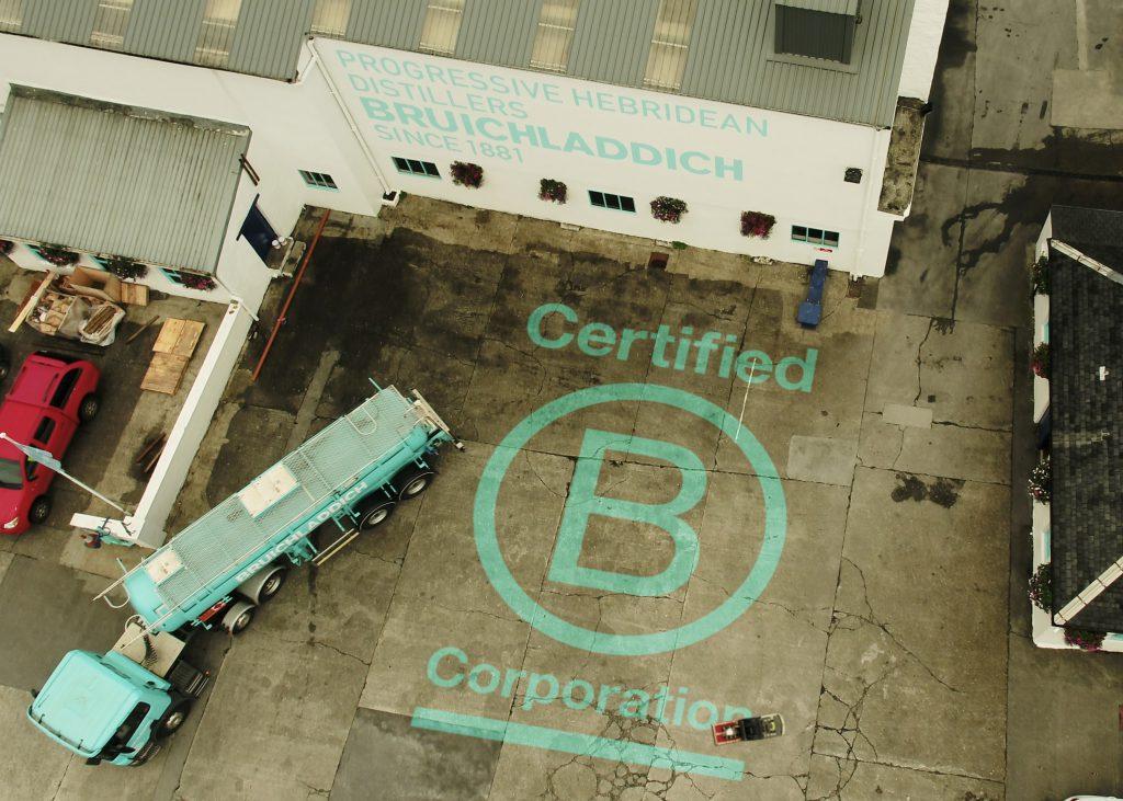 ブルックラディ蒸留所、ウイスキー・ジンの蒸留所としてヨーロッパ初のB Corp認証を取得